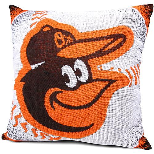 "Baltimore Orioles The Northwest Company 20""x20"" Woven Pillow - Black - No Size"