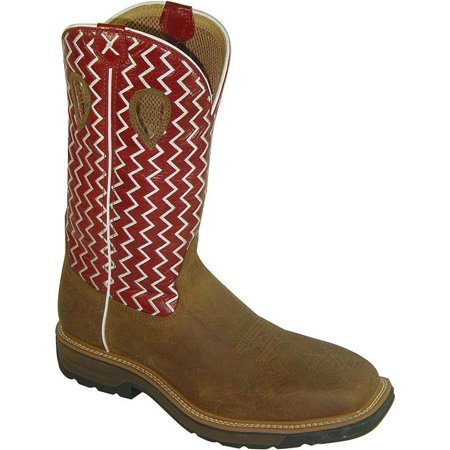 Twisted X Mens Lite Pull On Work Boot Square Toe   Mlcw001