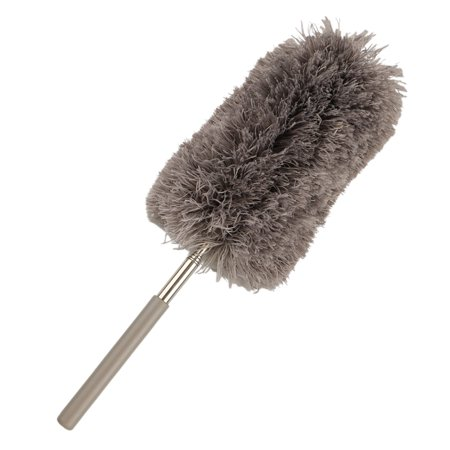Maid Feather Duster (Adjustable Feather Duster Extendable Microfibre Dusting Brush Long Handle Sweeper Retractable Home Cleaning Tool)