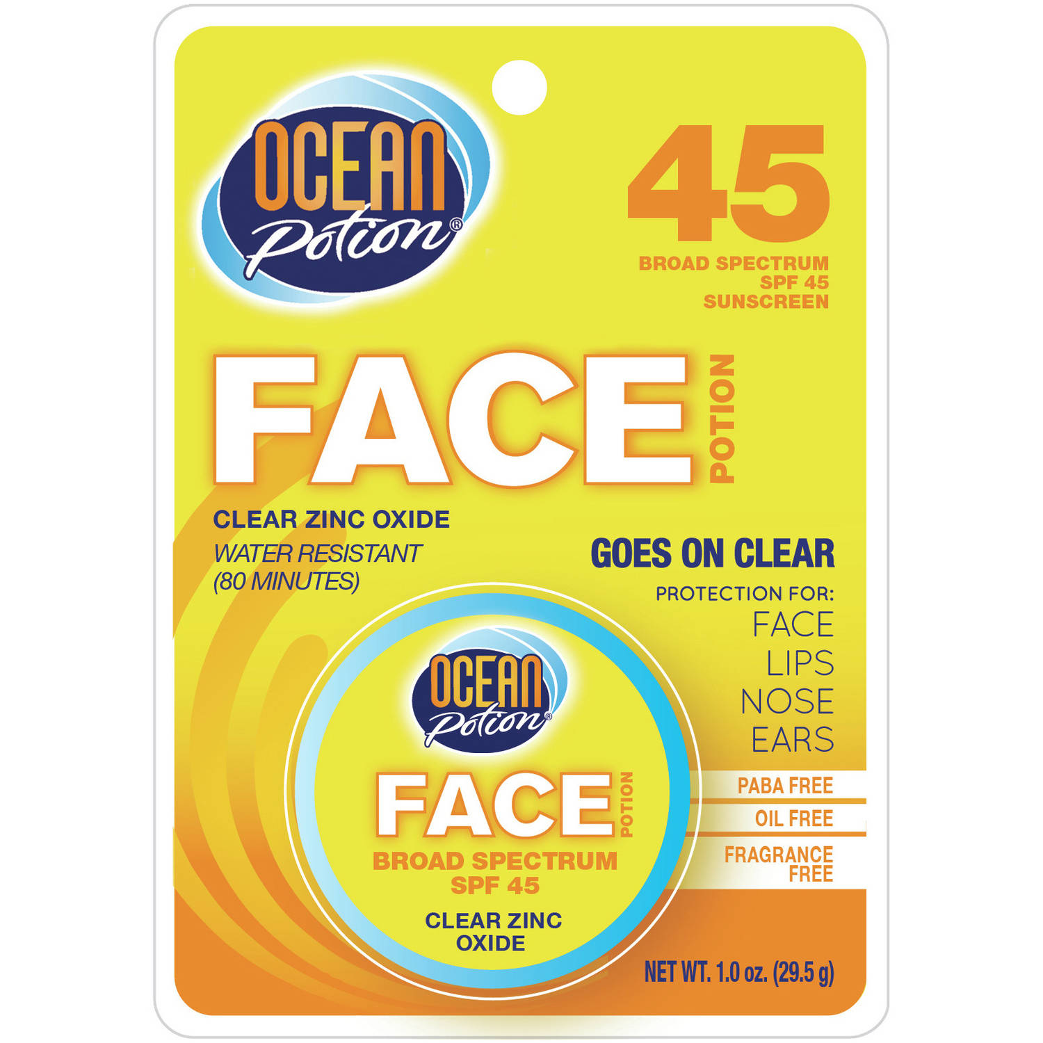 Ocean Potion Clear Zinc Oxide Face Potion SPF 45,1 fl oz