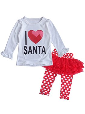 af38f1792d8c6 Product Image StylesILove Baby Girls I Love Santa Top and Tutu Legging  Holiday Clothing Set (3-