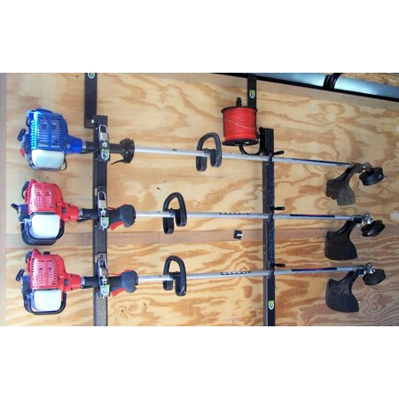 3 Place Locking Trimmer Rack for Enclosed Trailers by Pack'em Racks