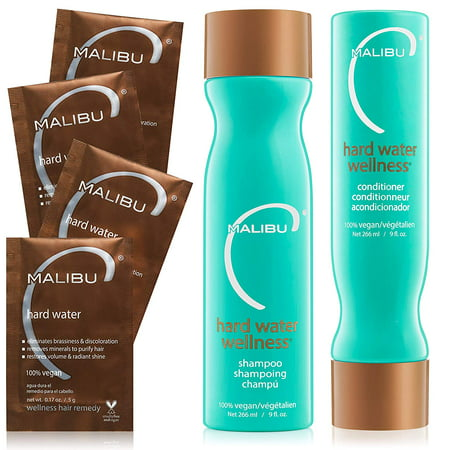 Malibu C Hard Water Wellness Collection Set - New in (Malibu Bay)
