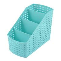 Kitchen Home Makeup Desktop Plastic 4 Slots Chopsticks Storage Organizer Divider Box