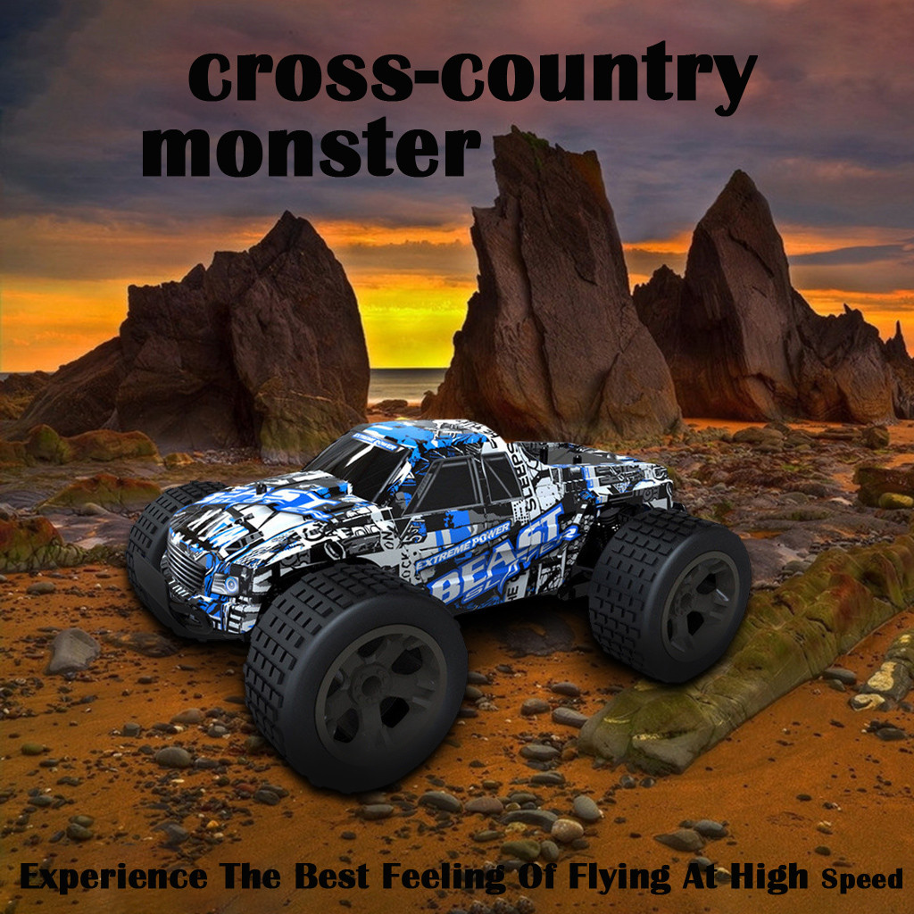 1:20 2WD 2.4Ghz High Speed RC Racing Car Remote Control Truck Off-Road Buggy Toy
