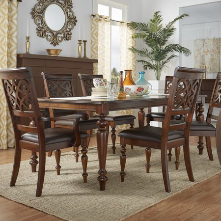 Weston Home Rich Cherry 7-Piece Dining Set