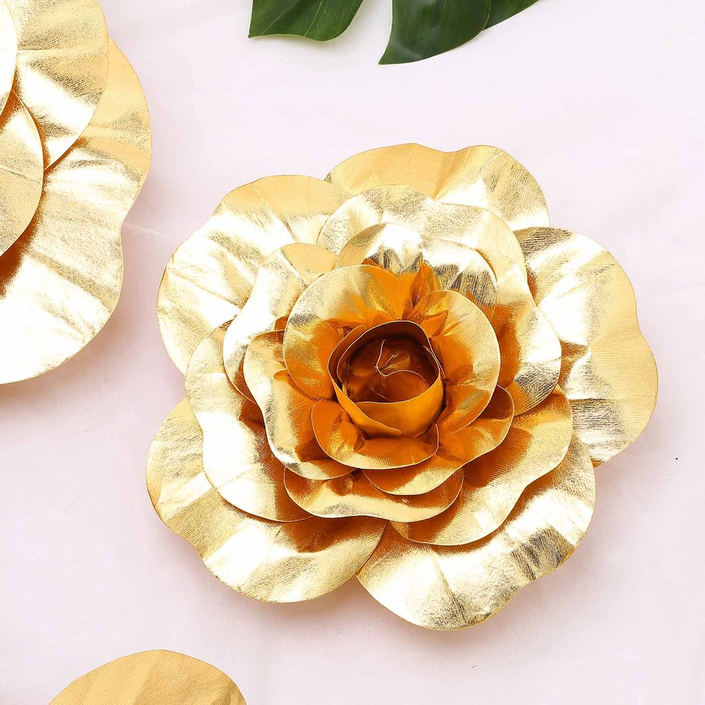 "Efavormart 12"" Real Touch Artificial Foam 3D Craft Rose for DIY Wedding Bouquets Centerpieces Arrangements Party Home Decorations"