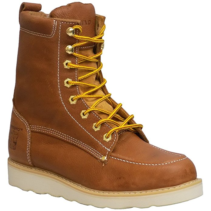 "Rhino 82T06 Mens Butternut 8"" Oil Resistant Moc Toe Lace Up Work Boots (Medium (D, M),5)"