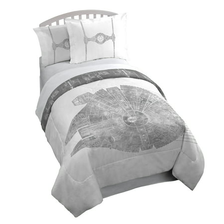 Star Wars Classic Falcon Twin/Full 3 Piece Comforter Set with 2 Shams