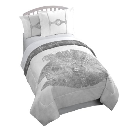 Star Comforter Set (Star Wars Classic Falcon Twin/Full 3 Piece Comforter Set with 2 Shams )
