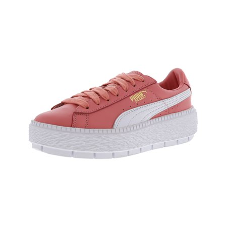 huge discount 56993 33180 Puma Women's Platform Trace L Shell Pink / White Ankle-High Leather Fashion  Sneaker - 5.5M