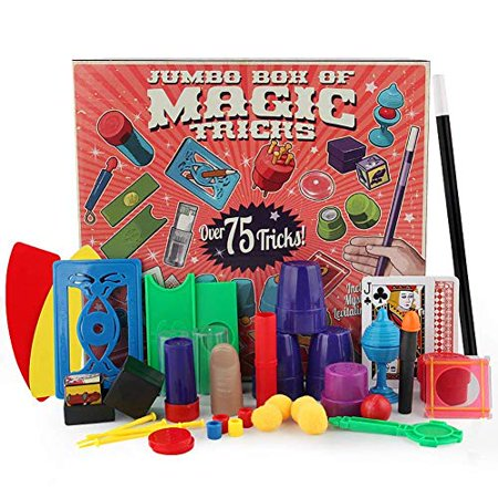 Magic Kits For Adults (Magic Kit Easy Magic Tricks For Kids Over 75 Spectacular Tricks Magic Set Ideal For Beginners and Kids of All Ages With Cards / Coin / Wand / Fake Thumb)