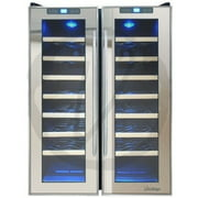 VINOTEMP INTERNATIONAL 50BOTTLE WINE COOLER WITH INTERIOR DISPLAY