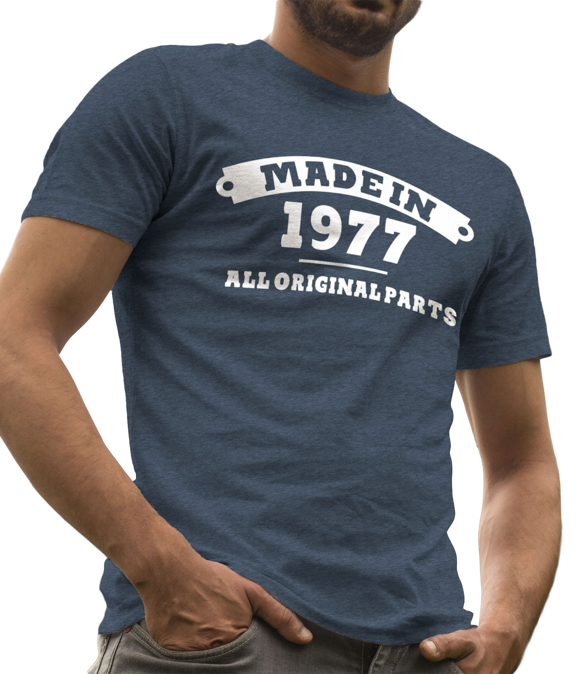 344a2a3036eef 40th Birthday Gifts for Men Made in 1977 All Original Parts Shirt by LeRage  Shirts MEN'S Black Large