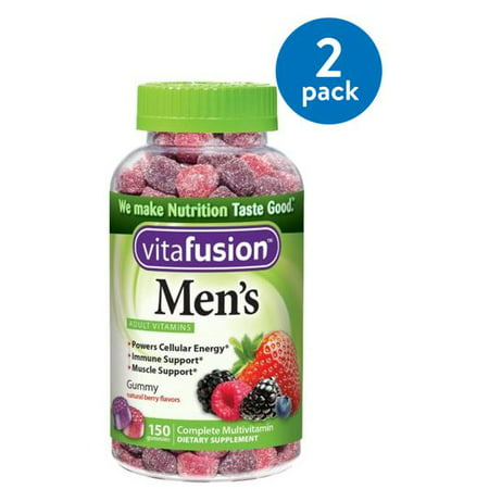 (2 Pack) Vitafusion Men's Gummy Vitamins, 150ct (Best Multivitamin For Immune System)