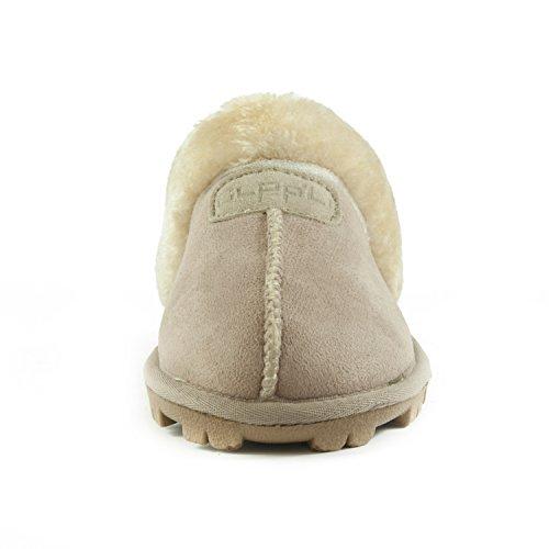 e1700bc1c1d5 CLPP LI - CLPP LI Womens Slip On Faux Fur Warm Winter Mules Fluffy Suede  Comfy Slippers-Sand-9 - Walmart.com