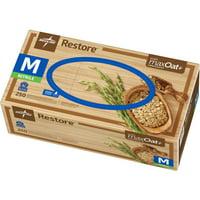 Medline Restore Nitrile Exam Gloves with Oatmeal, Medium, Off-White, 250CT