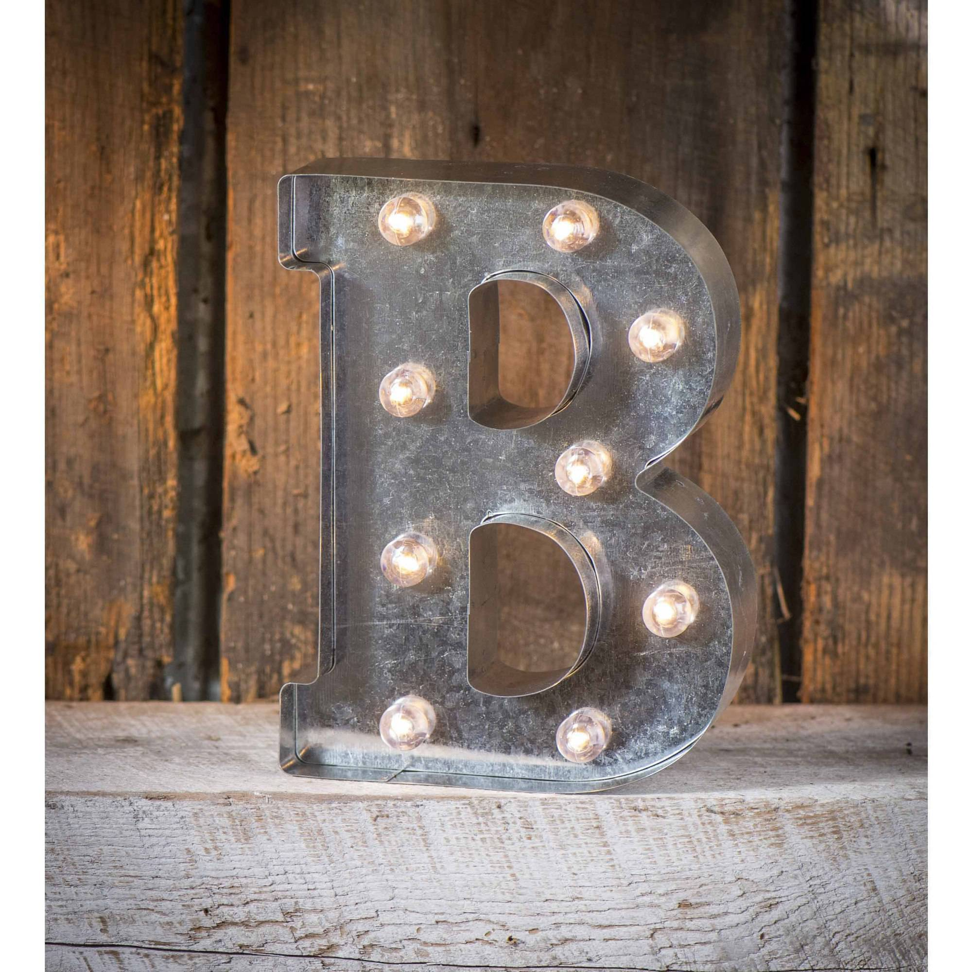 Light-Up Marquee Letter B