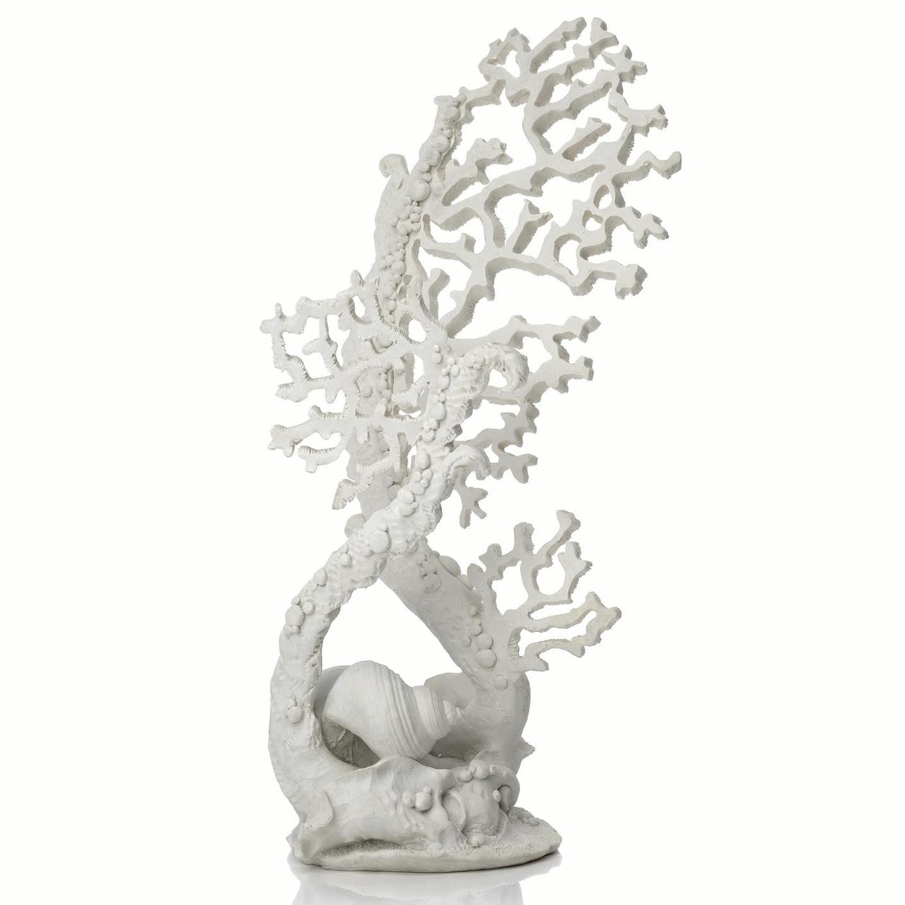 Fan Coral Sculpture white