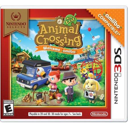 Animal Crossing New Leaf w/ amiibo Card (Nintendo Selects), Nintendo,  Nintendo 3DS, 045496744434