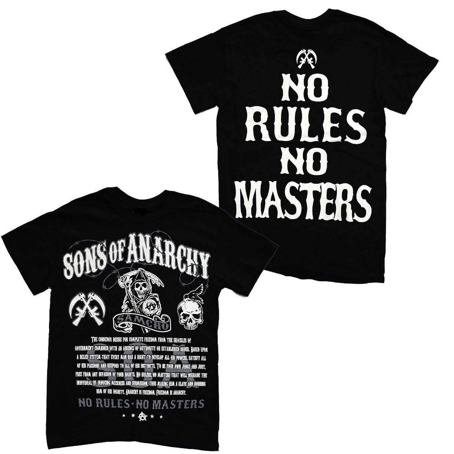 Sons of Anarchy No Rules No Masters Samcro Adult T-Shirt