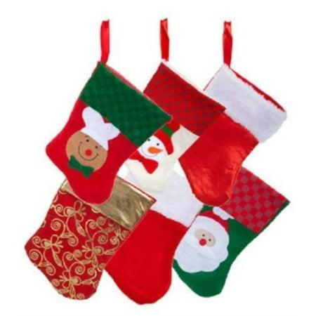6 pairs: christmas house mini stockings 12 count packs - Mini Christmas Stocking