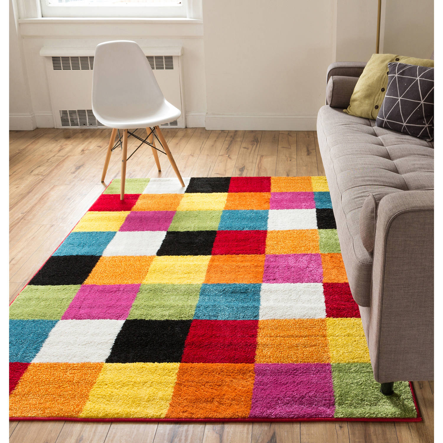 ^ Well Woven StarBright Bright Square Kids rea/unner ug, Multi ...