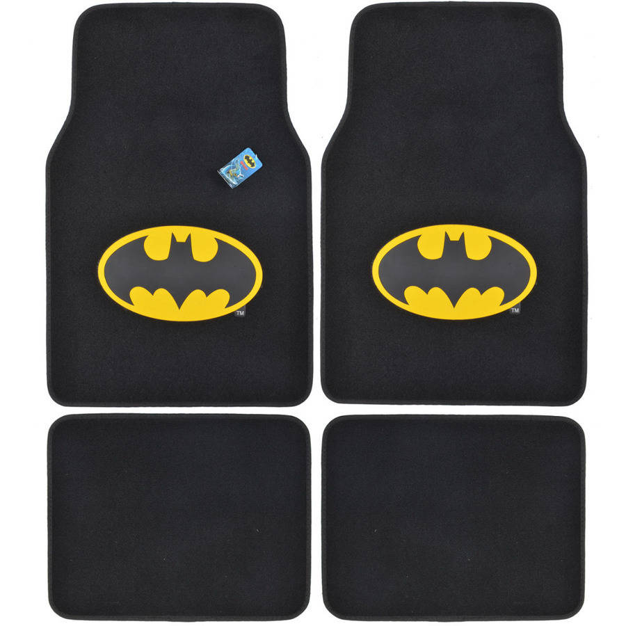 BDK Batman Floor Mats for Car, SUV & Truck, 4 Pieces, Original Logo