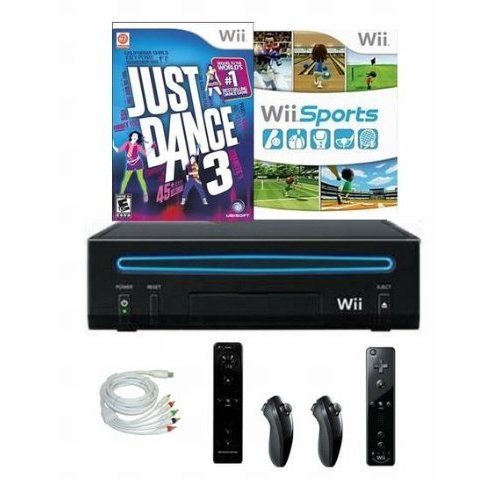 Refurbished Nintendo Wii Console Bundle With Just Dance 3 Wii Sports And 2 Controllers