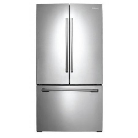 Samsung RF261BEAESR - Refrigerator/freezer - freestanding - width: 35.7 in - depth: 35.6 in - height: 70 in - 25.5 cu. ft - french style with water dispenser - stainless steel