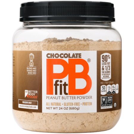 PBfit Chocolate Peanut Butter Powder, 24 oz (Double Chocolate Peanut Butter)