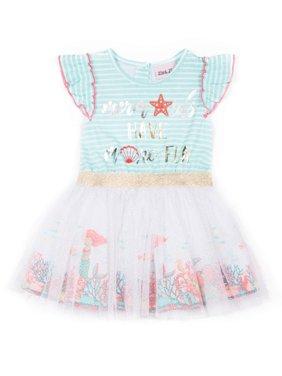 0893e78438b Product Image Short Sleeve Jersey   Tulle Tutu Dress (Baby Girls   Toddler  Girls). Little Lass