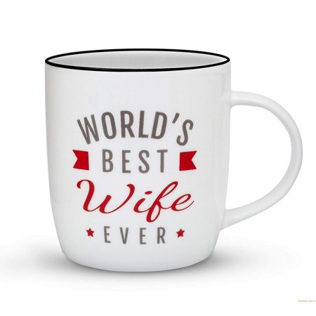 Gifffted Wife Mug, Christmas Gifts For Worlds Best Wife, Women, 13 Ounce Coffee Mug, Ceramic