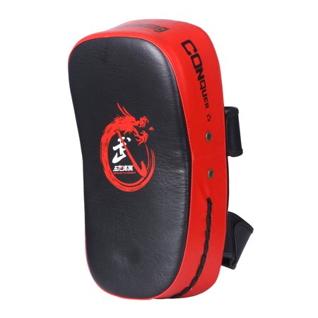 Cheerwing PU Leather Strike Shield Curved Focus Training Target Punch Mitt Karate Muay Thai Pad Kick Arm Target