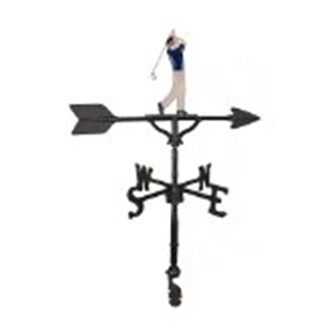 Montague Metal Products WV-288-NC 200 Series 32 In. Color Golfer Weathervane - image 1 de 1