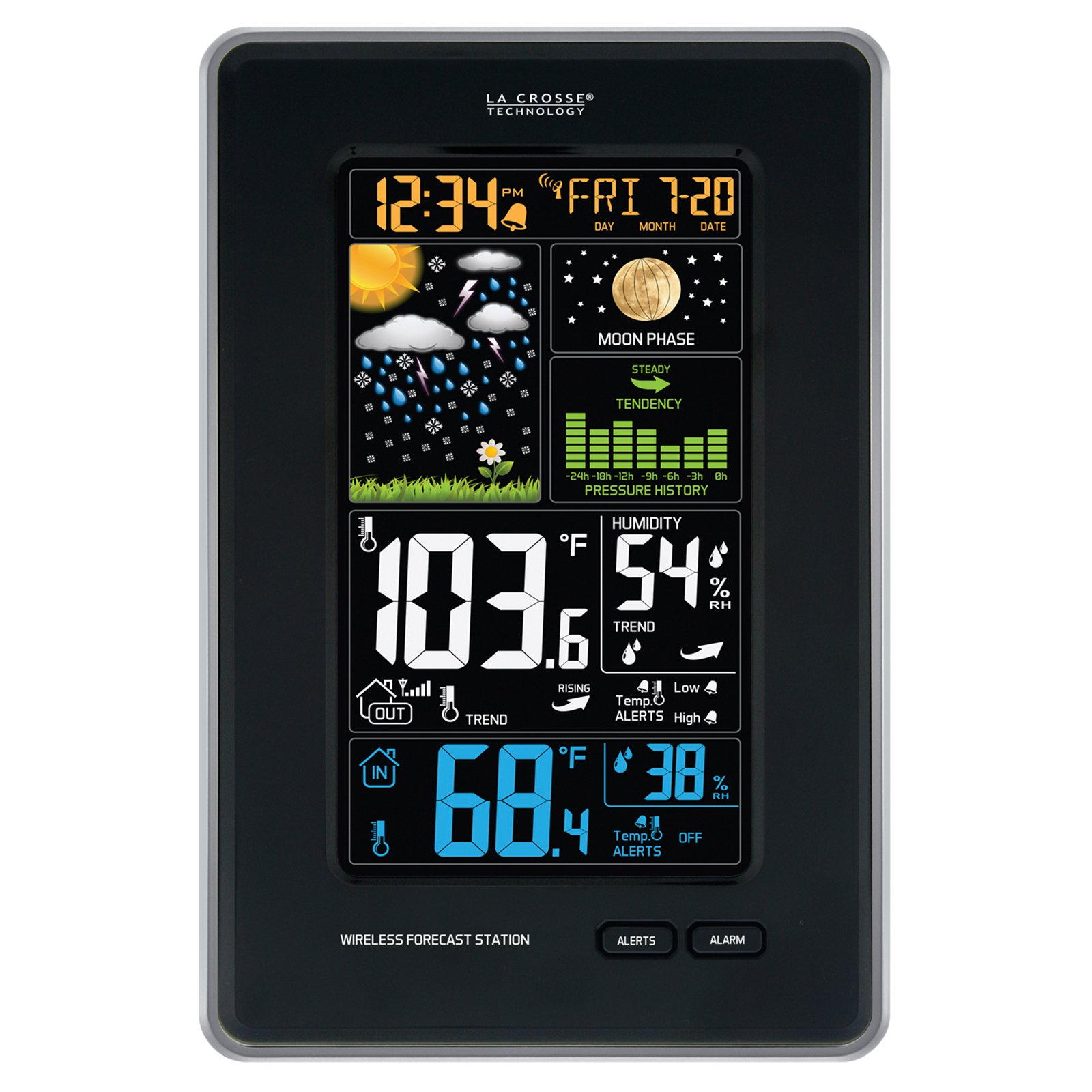 La Crosse 308-1425B-INT Wireless Color Weather Station