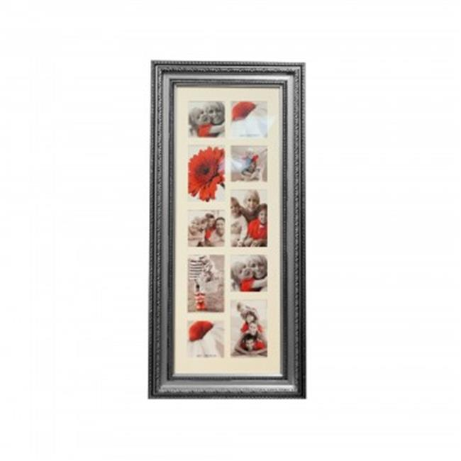 Bulk Buys OF540-6 Antique Collage Photo Frame, Silver - 6...