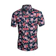 Men's Button Up Allover Floral Shirt