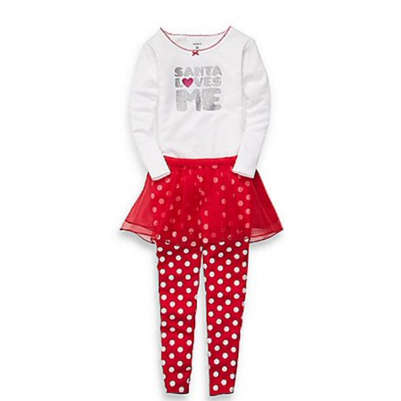 Carters - Carters Infant Girls Red Santa Love Me Outfit Pants Tutu Skirt  Glitter Shirt - Walmart.com ac0243b82