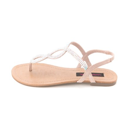 Material Girl Women's Selena Slingback Thong Sandals