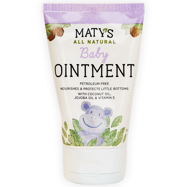 Maty's All Natural Baby Ointment, 3.5 oz., Petroleum Free, Safe for Cloth Diapers, Natural Alternative to Petroleum-Based Diaper Rash Creams, Safe For Sensitive Skin, Chemical & Fragrance Free