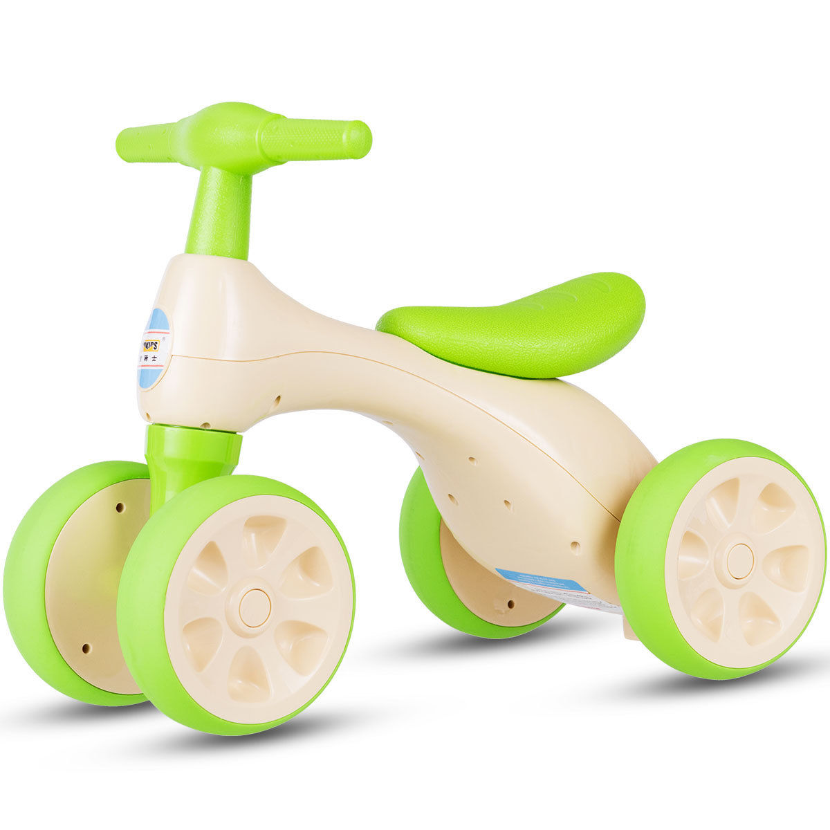 Costway Baby Balance Bike No Pedal Bicycle Children Walker 4 Wheels w/ Sound & Storage - image 10 de 10