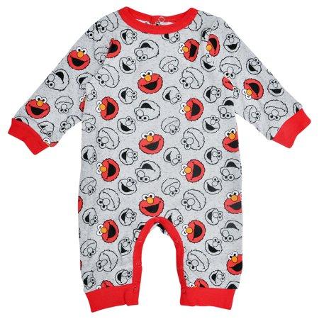 Sesame Street Elmo Baby Boys One-Piece Bodysuit Gray