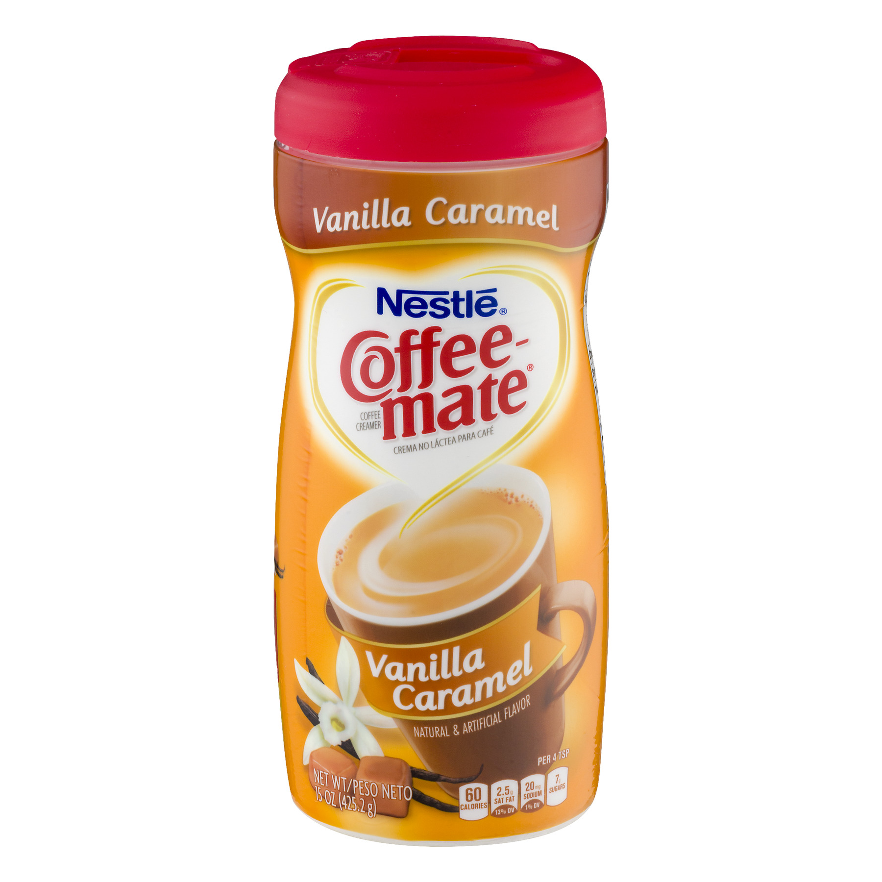 Nestle Coffeemate Vanilla Caramel Powder Coffee Creamer 15 oz. Canister