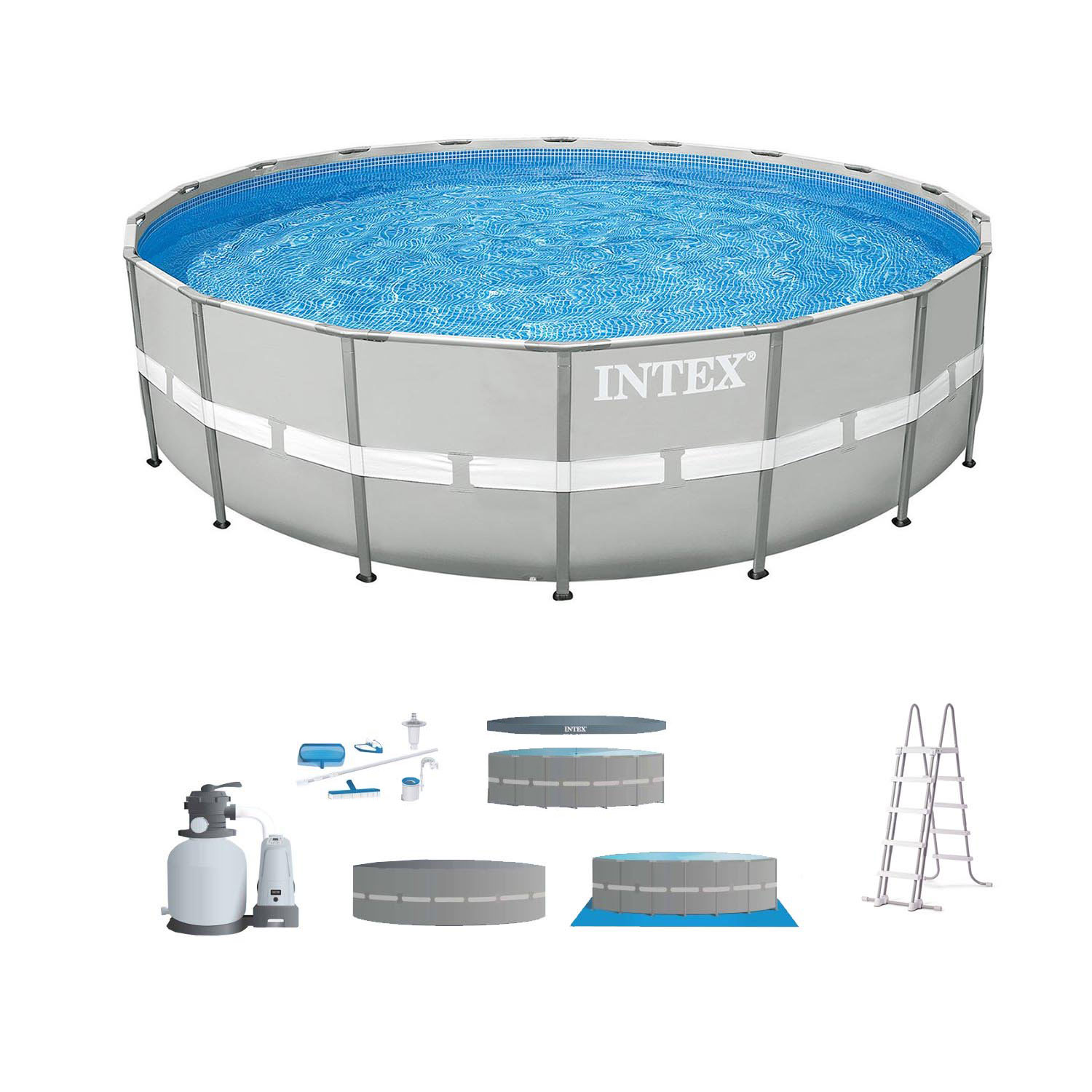 "Intex 24' x 52"" Steel Ultra Frame Round Above Ground Swimming Pool Set with Pump by Intex"