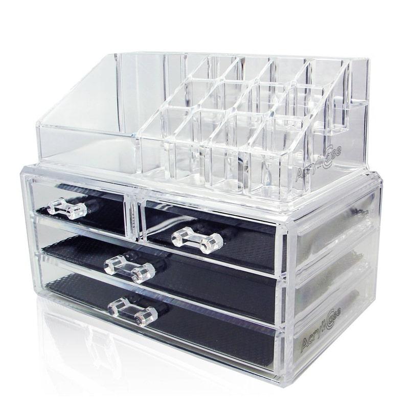 makeup organizer drawers walmart. acrylic makeup organizer cosmetic jewelry display box 2 piece set by acrylicase drawers walmart m