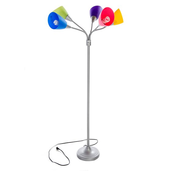 Home Source Multi Colored Floor Lamp Walmart Com
