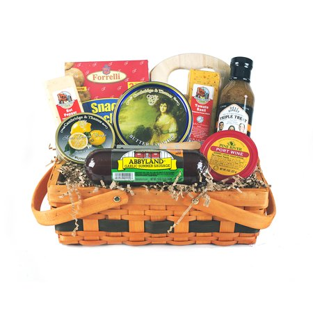 Chinese Gifts - Deli Direct Wisconsin Cheese & Sausage Medium Gift Basket 9 pc Basket
