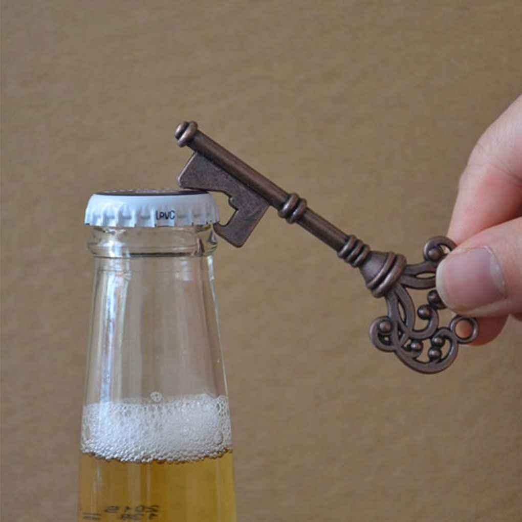 Portable Key Shape Bottle Opener Ring Keyring Keychain Metal Beer Party Bar Tool
