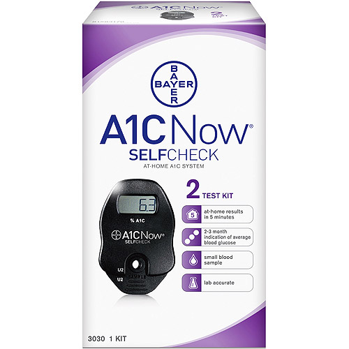 Bayer A1CNow SelfCheck At-Home A1C System, 2 Test Kit